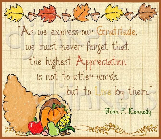 Thanksgiving clipart gratitude Quote art gratitude Inkers DJ