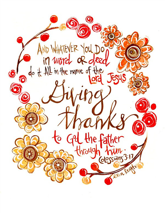 Thanksgiving clipart scripture On Printed Verse Give Matte