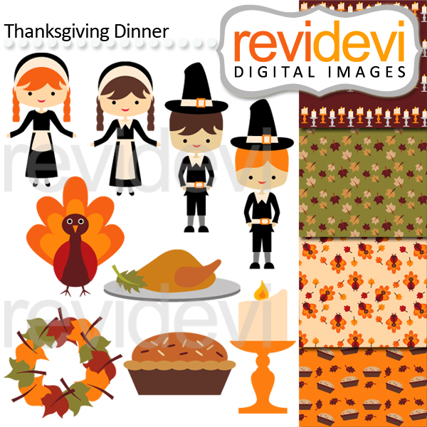 Thanksgiving clipart supper Related Thanksgiving Clip Dinner Fall