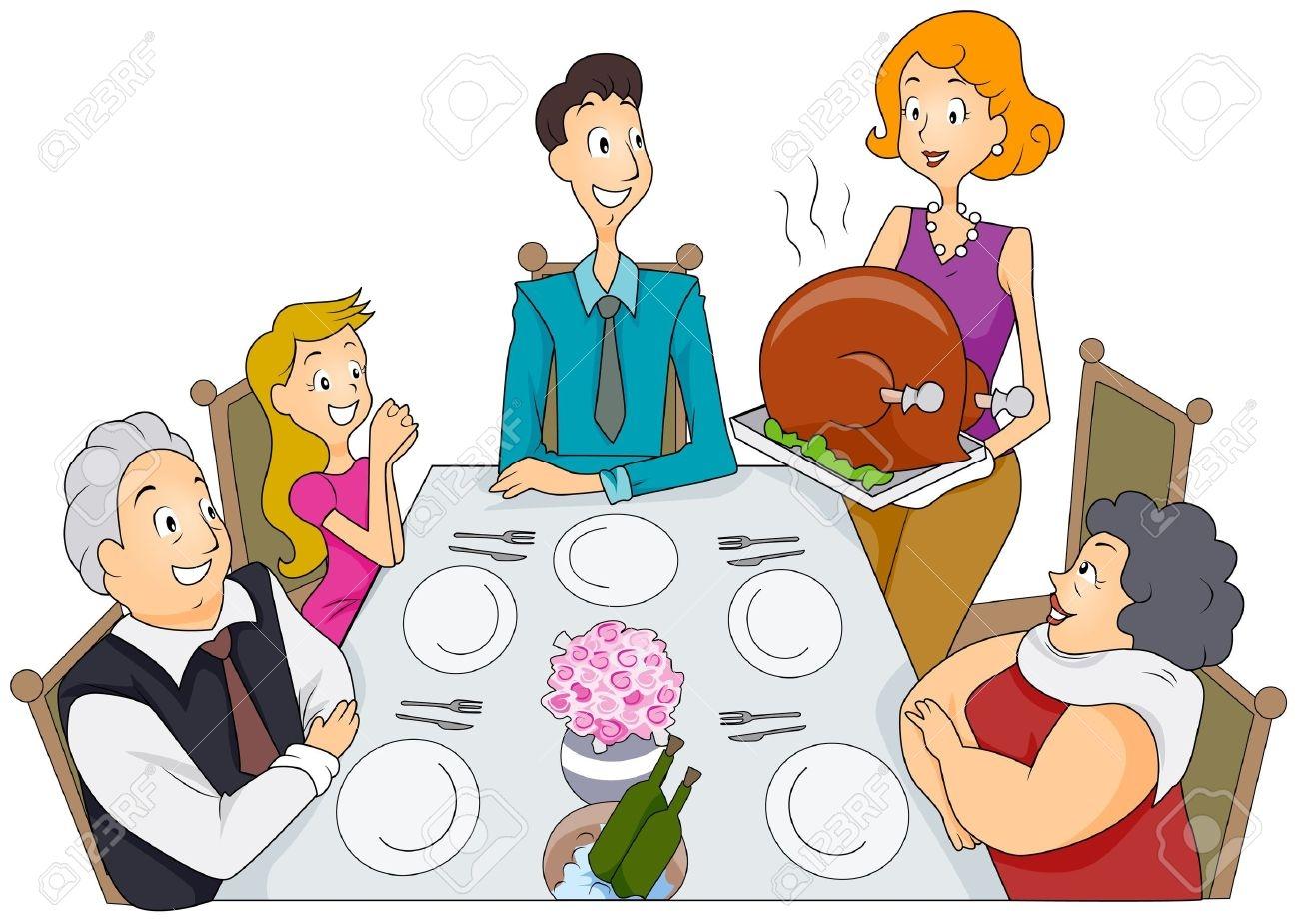 Thanksgiving clipart thanksgiving dinner Clipart Dinner Savoronmorehead Social dinner