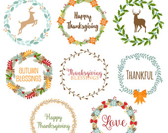 Wreath clipart thanksgiving Digital Clipart 80% Thanksgiving Thanksgiving