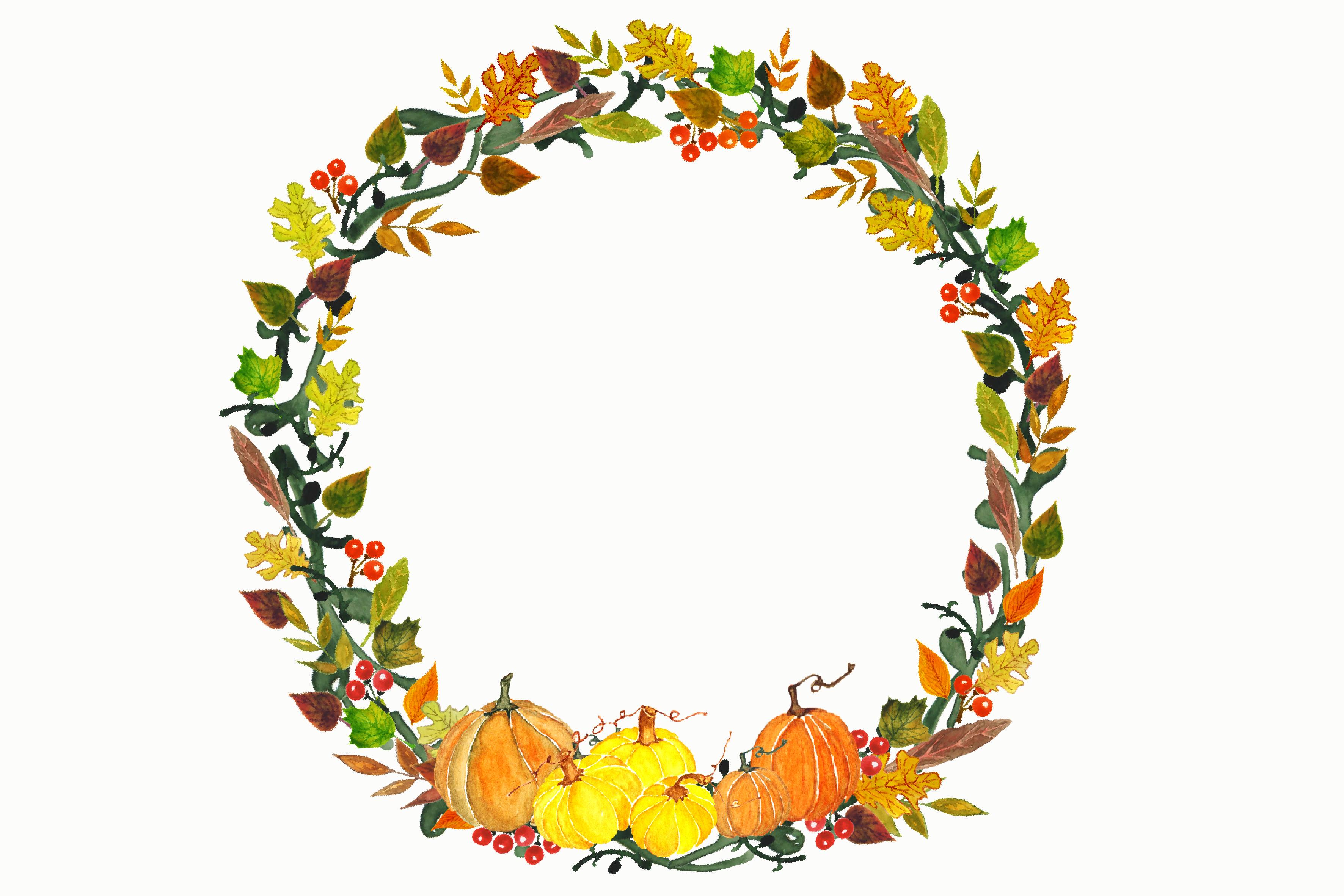 Thanksgiving clipart wreath Wreath Fall Art Download Art