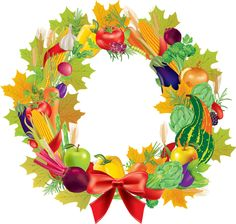Thanksgiving clipart wreath Thanksgiving 2013 illustration holly Christmas