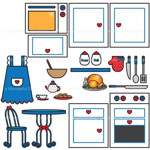 The Kitchen clipart Images free kitchen clip art