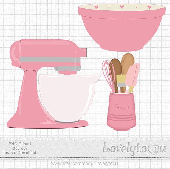 Pink clipart mixer Baking and clip Kitchen $3