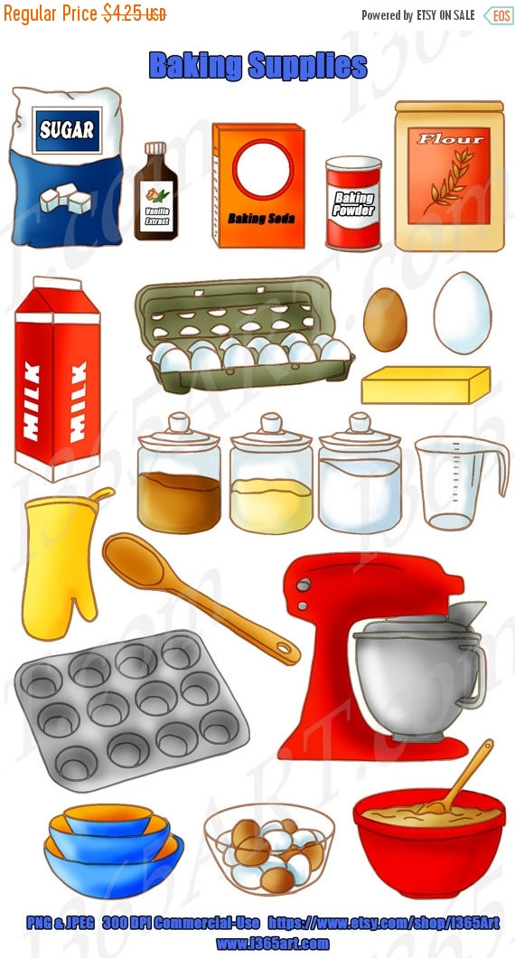 The Kitchen clipart baking Set Baking  sale sale