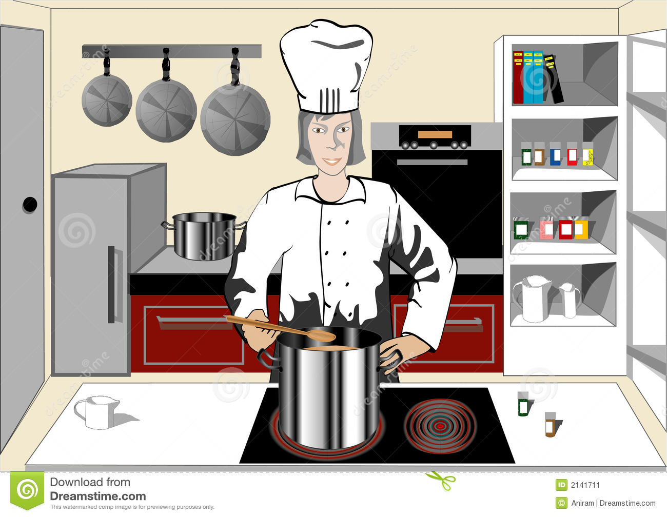 The Kitchen clipart chef kitchen Stock in Illustrations cooking the