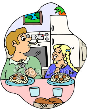 The Kitchen clipart home cooked meal Panda Clipart Free Clipart Dinner