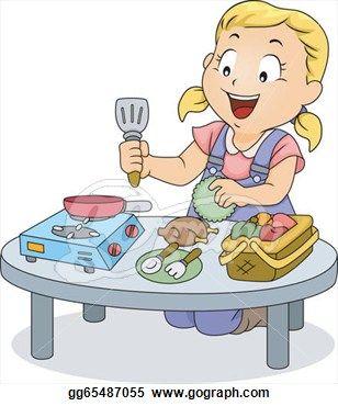 Baking clipart kids cook Toys Little Illustration cooking Kitchen