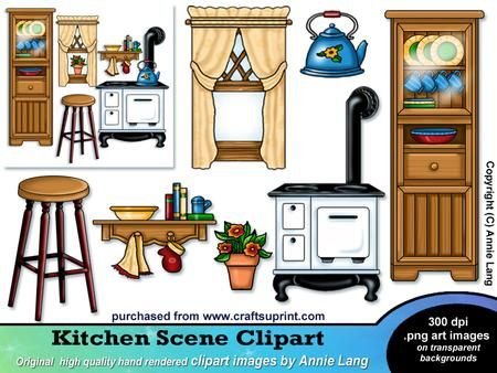 Windows clipart house furniture Free Kitchen Download Clip the