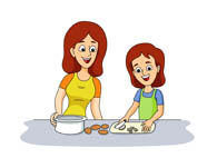 Baking clipart mother daughter Search in Kb mother daughter