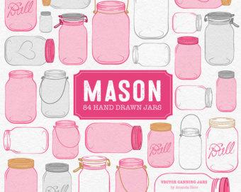 The Kitchen clipart preserves Clipart Mason in Jar Preserves