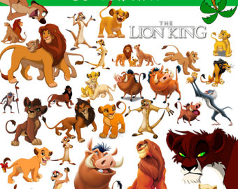 Zebra clipart lion king LION Party Clipart KING image