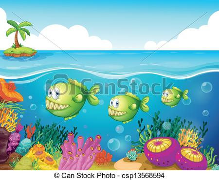 The Sea clipart Illustration of sea green sea