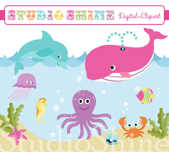 The Sea clipart By StudioShine Clipart Clipart Etsy