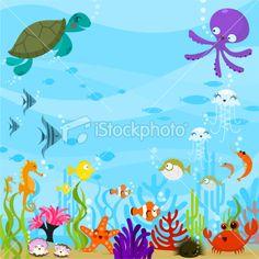The Sea clipart aquarium animal Clipart Under Sea Clipart Under