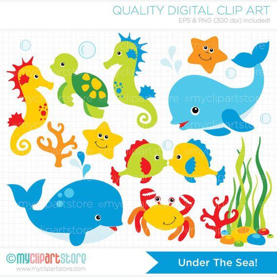 The Sea clipart aquarium animal Seahorse dolphin (#1) Clipart beach