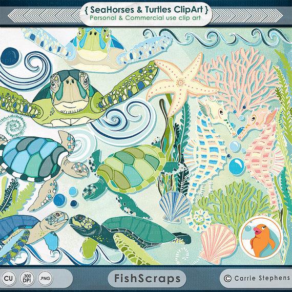 The Sea clipart aquarium animal Clip Coastal Turtles ClipArt Clip