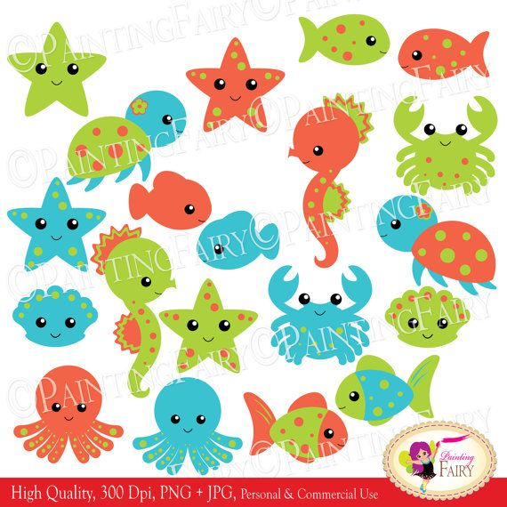 Starfish clipart turtle INSTANT Turtle Shell images Blue