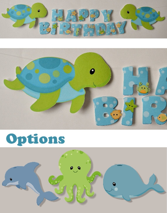 The Sea clipart baby shower whale Sea OR Baby Birthday Boy