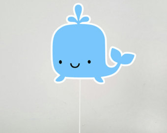 The Sea clipart baby shower whale Etsy cake topper the Whale