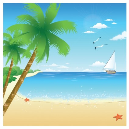The Sea clipart beach background  Download vector Art 103