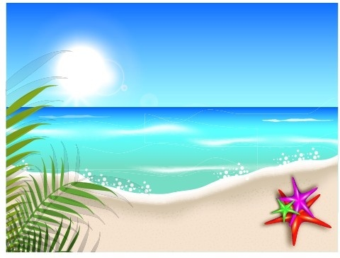 Background clipart fence Download beach Beach vector 273