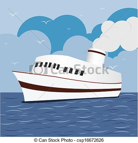 Drawn yacht the sea clipart With Ship Ship Vector at