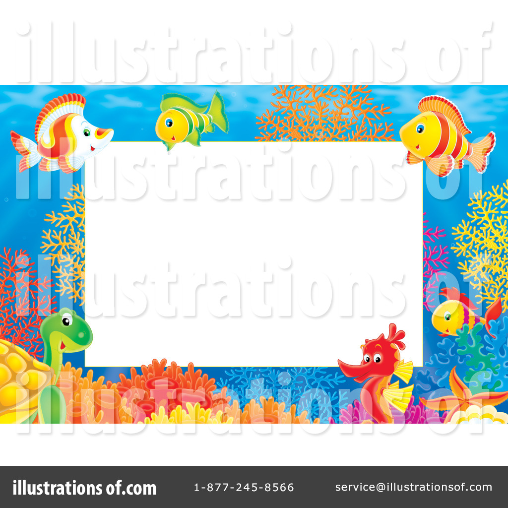 The Sea clipart border (RF) Illustration Bannykh by Bannykh