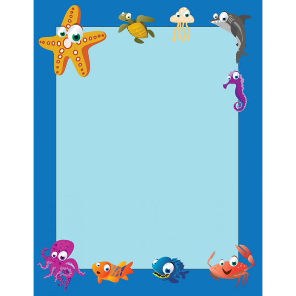The Sea clipart border Sea Classroom Awards & Teaching