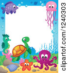 The Sea clipart border Animals Clipart Sea  Border