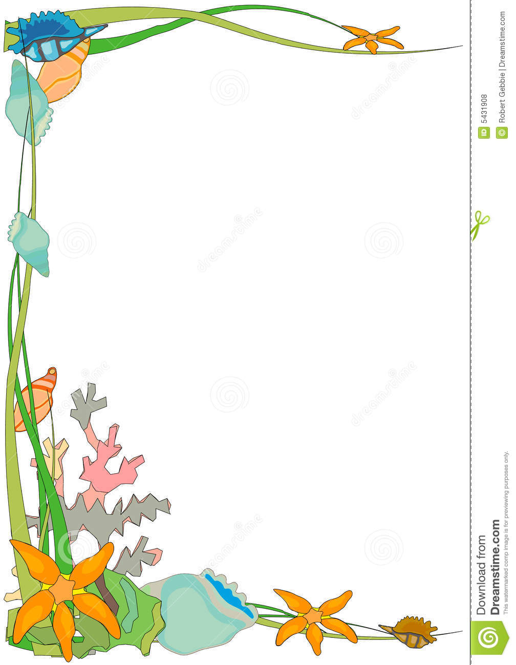 The Sea clipart border Border border May Collection also