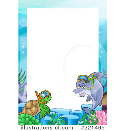 The Sea clipart border (RF) Clipart visekart Illustration visekart