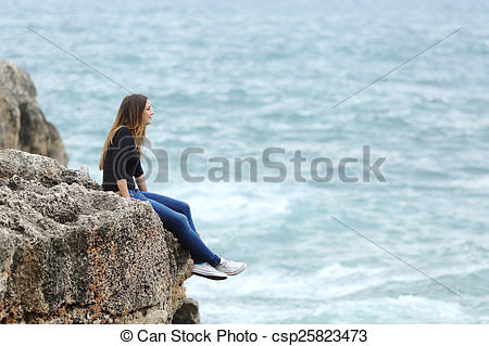 The Sea clipart cliff Picture Side csp25823473 Casual in