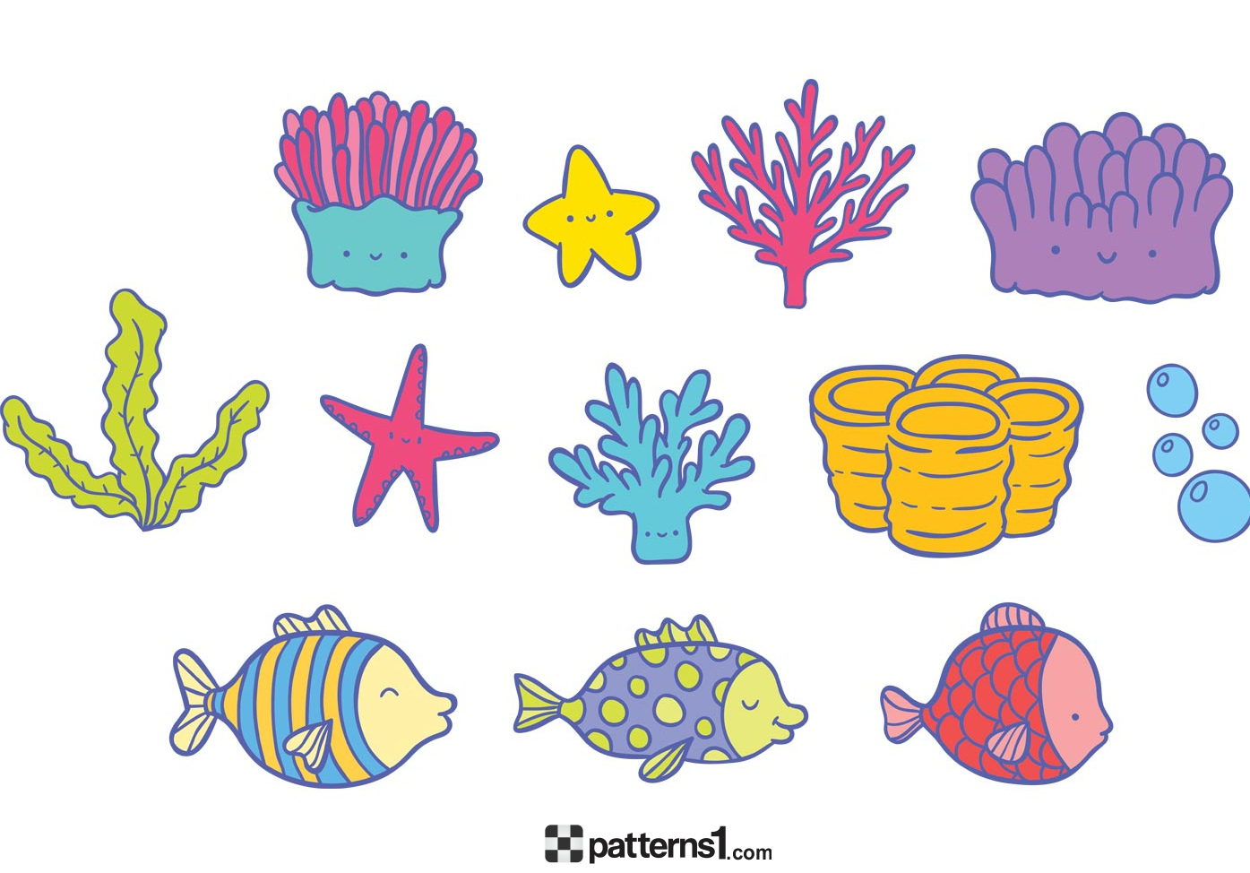 The Sea clipart coral By with Sea Coral Patterns1