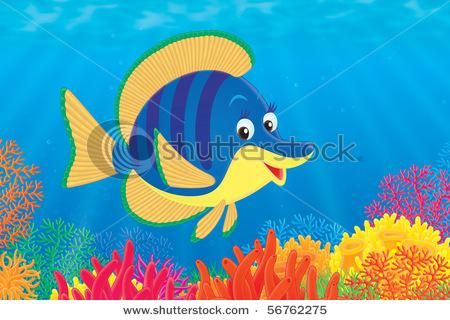Sea clipart coral reef fish #2