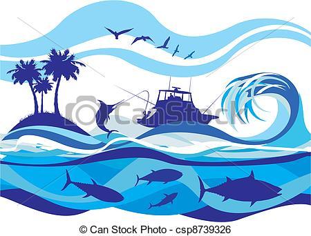 The Sea clipart deep sea Clipart  Deep Fishing Sea