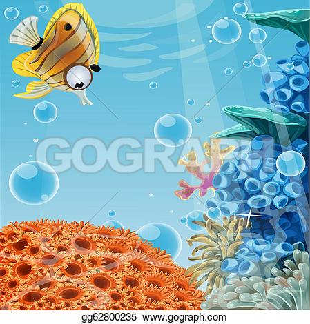 The Sea clipart deep sea · with reefs coral Sea
