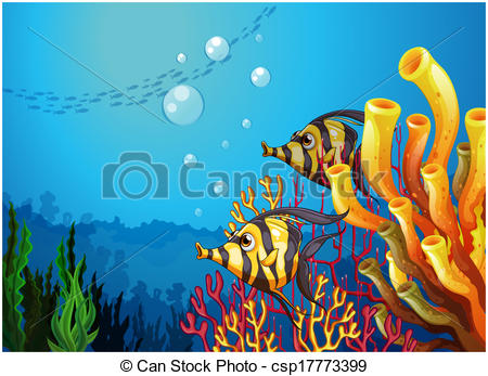 The Sea clipart deep sea Beautiful fishes EPS csp17773399 of