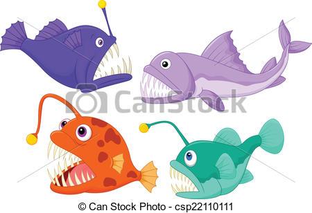 The Sea clipart deep sea Vector Deep fish sea illustration