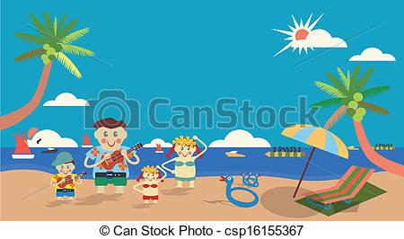Vacation clipart family activity Hawai tenth concept parents girl