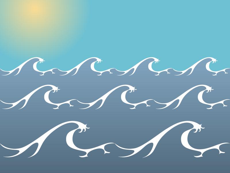 Drawn sea ocean wave Sea Art Clipart Free Cliparts