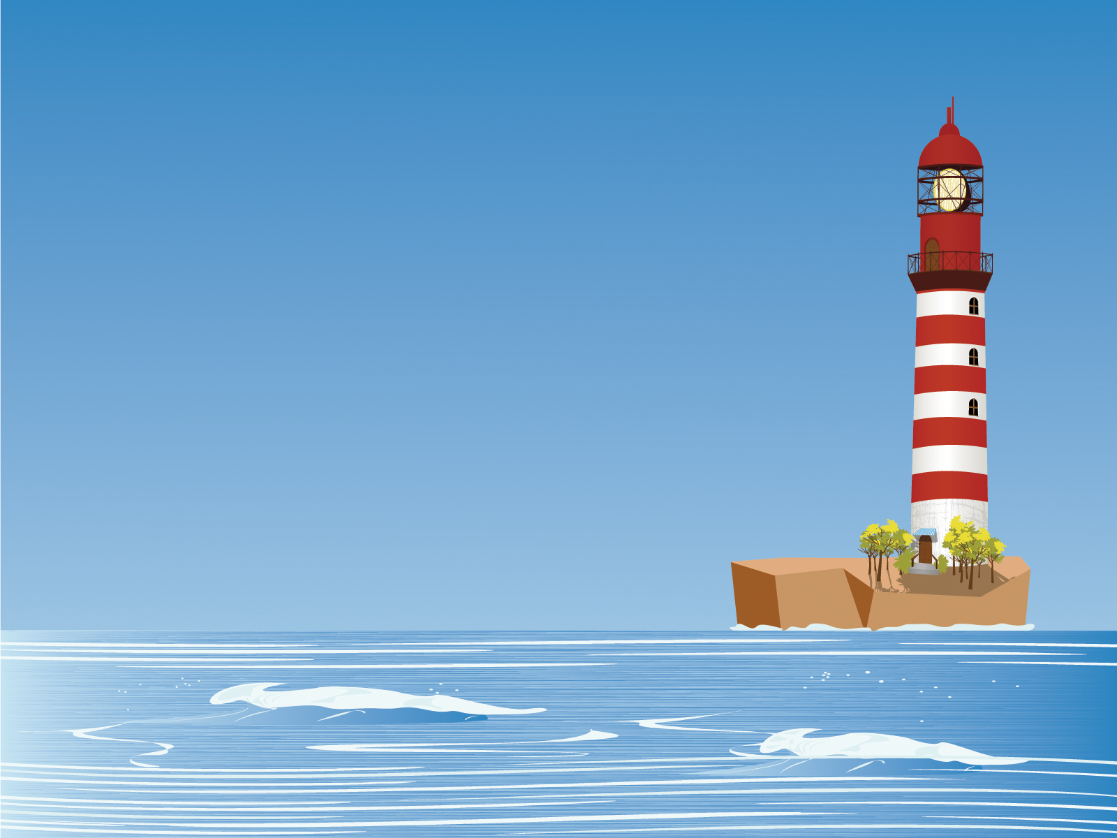 The Sea clipart powerpoint Sea Lighthouse Templates Backgrounds Objects