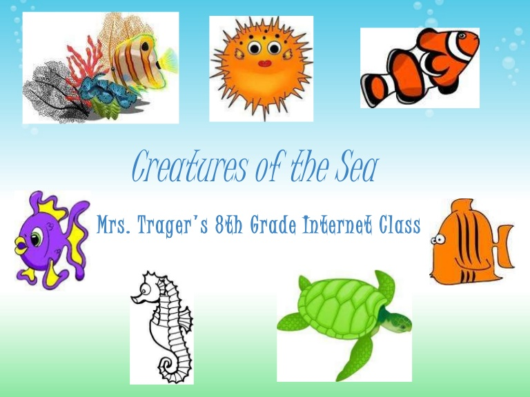The Sea clipart powerpoint  Sea PowerPoint Creatures