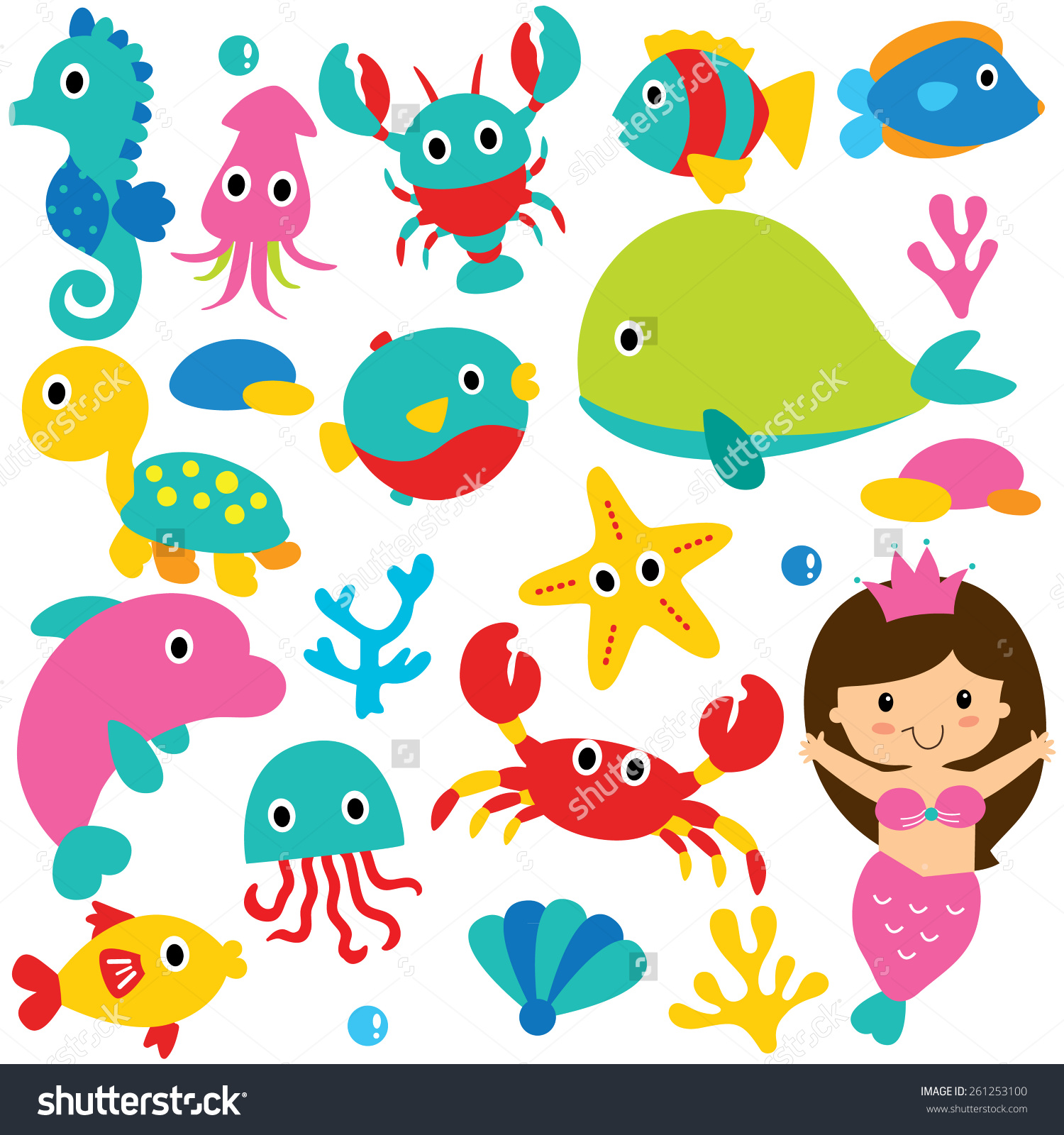 The Sea clipart sea animal Sea Clipart Art Cliparts Ocean