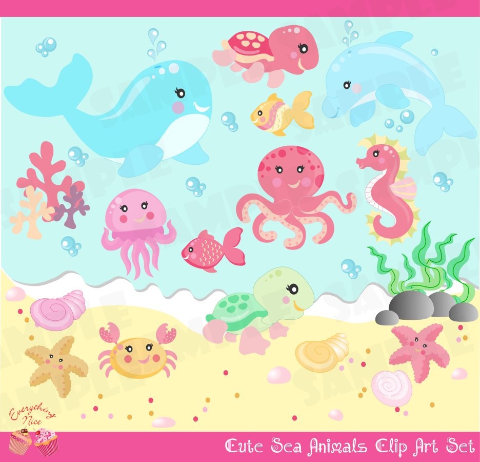 The Sea clipart sea animal Little by SEA  Animals