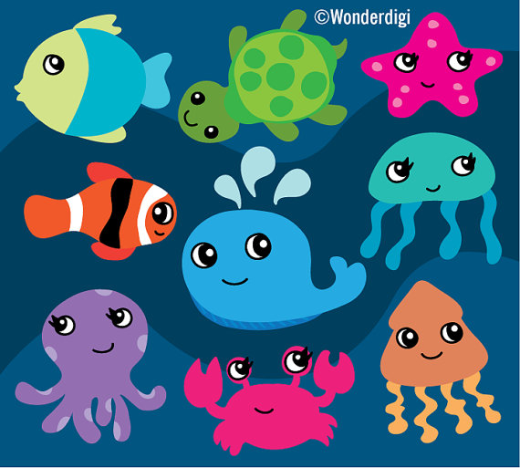 The Sea clipart sea animal Art Animals Creatures Clipart Creatures
