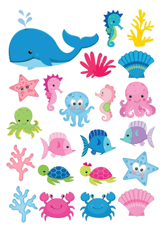 The Sea clipart sea creature Scrapbook Clip Icing simply