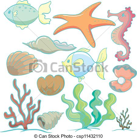 The Sea clipart sea plant Vector plants animals of