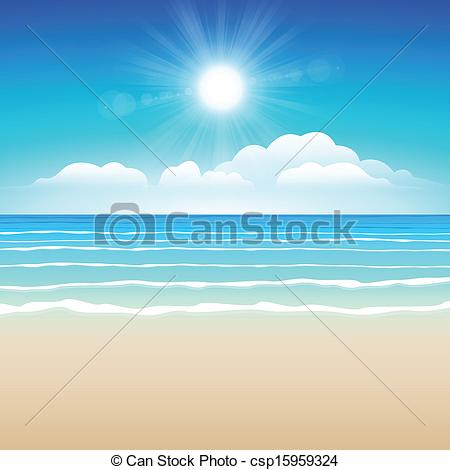 Sand clipart shore Sky Sand Vector Illustration illustration